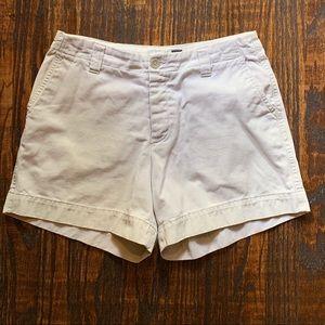 "GAP ""Clean Cut"" 4 Button Tan Khaki Women's Shorts"
